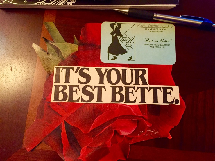 Bette Midler Official Fan Club Card